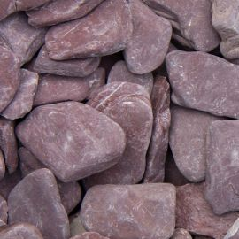 Flat Pebbles paars 30/60mm