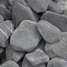 Flat Pebbles zwart 30 - 60mm