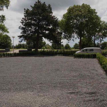Basalt split parkeerplaats