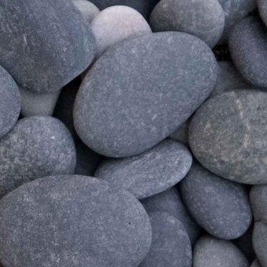 Beach pebbles zwart 30 - 60mm (3 - 6cm)