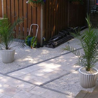 Castle grind aangelegde tuin