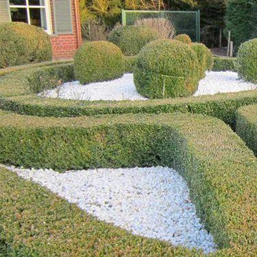 Crystal white grind 16 - 25mm aangelegde tuin
