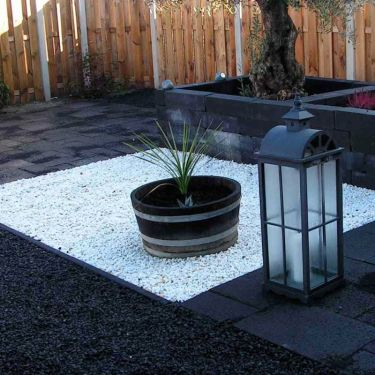 Crystal white split 9 - 12 (in combinatie met Basalt split)