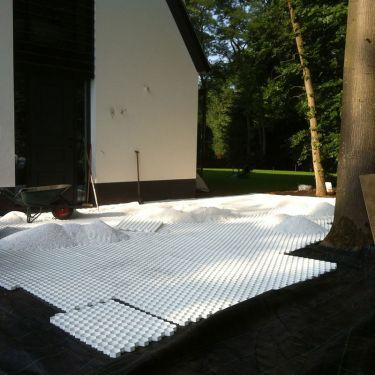 Easygravel® splitplaten wit aangelegd