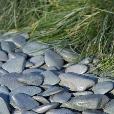 Flat Pebbles groen 30-60mm aangelged