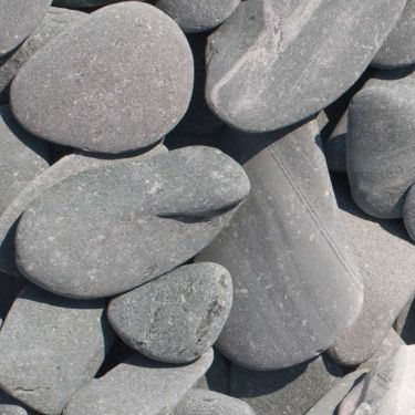 Flat Pebbles groen 30 - 60mm
