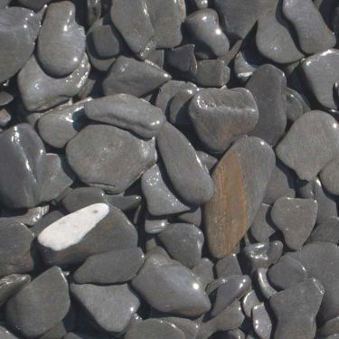 Flat Pebbles zwart 15 - 30mm (nat)