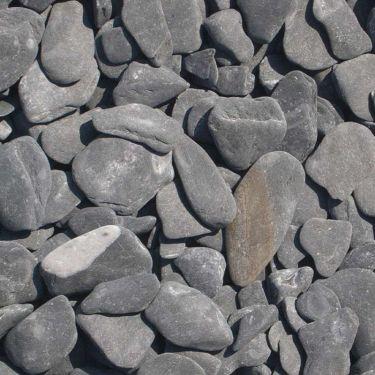 Flat Pebbles zwart 15 - 30mm
