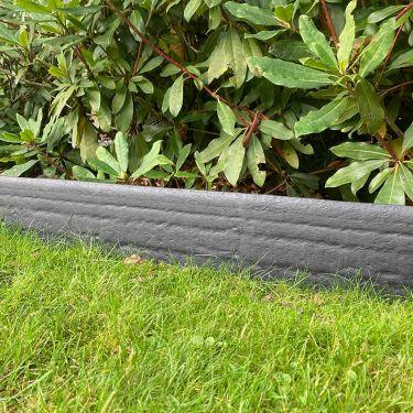 Multi-Edge ECO afboording recht grijs 20cm aangelegd