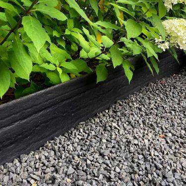 Multi-Edge ECO afboording recht zwart 20cm aangelegd
