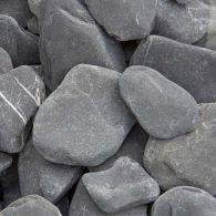 Flat pebbles Zwart 20KG bag