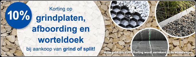 10% combikorting NL + BE Splitplaten/Afboording