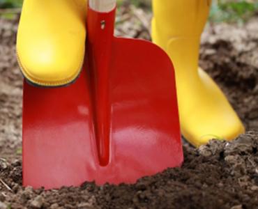 Nieuw: Bestel direct een schop mee met uw zand of grind!