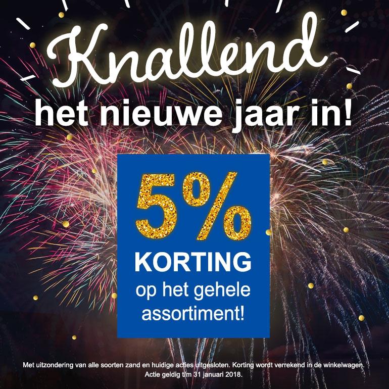 5% korting nieuwjaarsactie