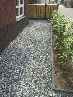 Tuin aanleg grind
